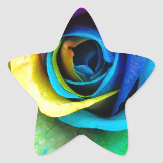 Mulit-Colored Rose by SnapDaddy, can Personalize! Star Sticker