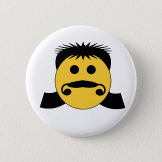 Mullet Smiley 6 Cm Round Badge