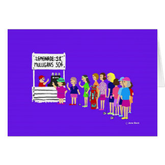 Mulligan Lady Golf Cartoon Greeting Card