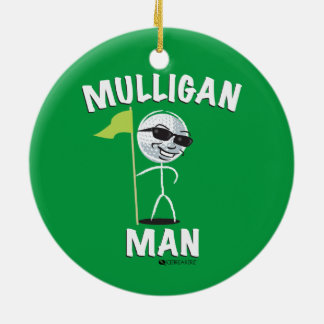 MULLIGAN MAN FUNNY GOLF ORNAMENT