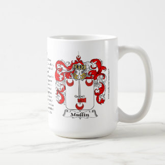 Mullin, the Origin, the Meaning and the Crest Coffee Mug