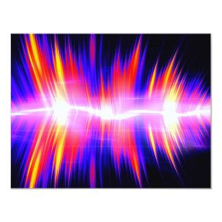 Mullticolored Abstract Audio Waveform 11 Cm X 14 Cm Invitation Card