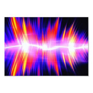 Mullticolored Abstract Audio Waveform 9 Cm X 13 Cm Invitation Card