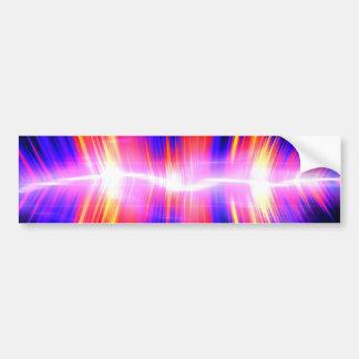 Mullticolored Abstract Audio Waveform Bumper Sticker