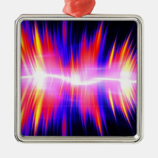 Mullticolored Abstract Audio Waveform Christmas Ornament