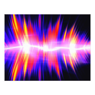 Mullticolored Abstract Audio Waveform Flyer Design