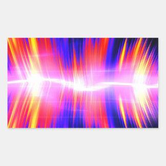 Mullticolored Abstract Audio Waveform Rectangular Stickers
