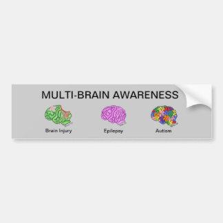 Multi-Brain Bumper Sticker