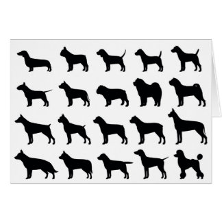 Multi-Breed Dog Note Card
