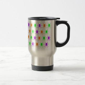 Multi bright spiders stainless steel travel mug