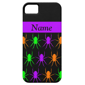 Multi bright spiders on black personalised iPhone 5 cover
