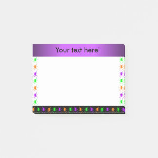 Multi bright spiders personalised post-it notes