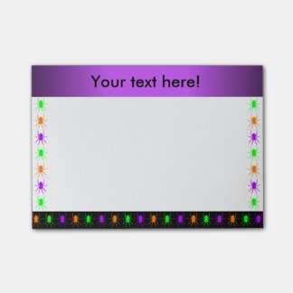 Multi bright spiders personalised post-it® notes