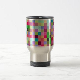 Multi Color 8-bit Pixelate Travel Mug