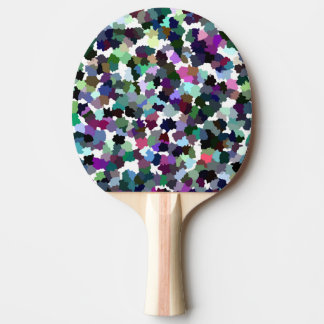 Multi-Color Abstract Crystal Pattern Ping Pong Paddle