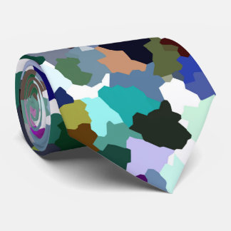 Multi-Color Abstract Crystal Pattern Tie