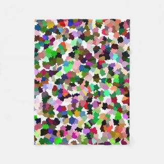 Multi-Color Abstract Pattern Fleece Blanket