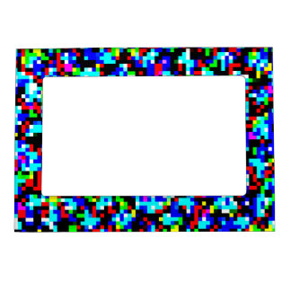 Multi-Color Abstract Pattern Magnetic Picture Frame