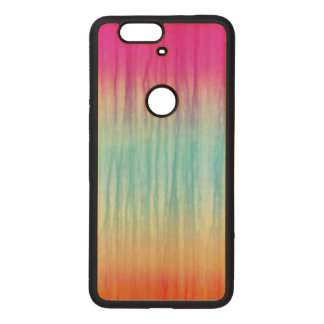 Multi-Color Abstract Pattern Wood Nexus 6P Case