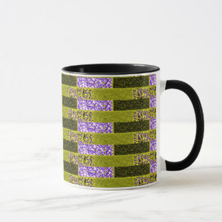Multi Color Alternating Lines Abstract Mug