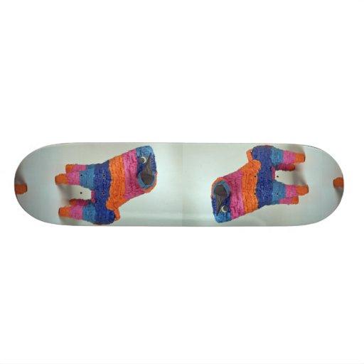 Multi Color Bull pinata for parties Custom Skate Board