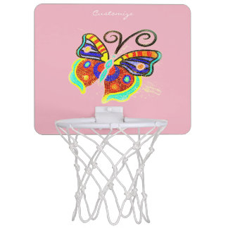 Multi-color butterfly any background Thunder_Cove Mini Basketball Hoop