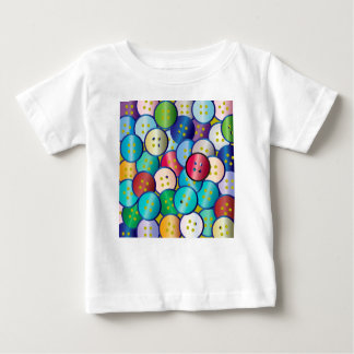 Multi Color Button Background Baby T-Shirt