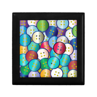 Multi Color Button Background Gift Box