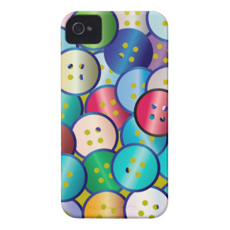 Multi Color Button Background iPhone 4 Case