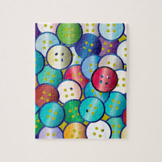 Multi Color Button Background Jigsaw Puzzle