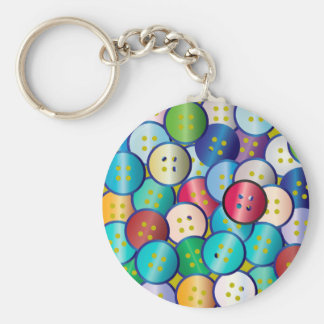 Multi Color Button Background Key Ring
