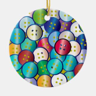 Multi Color Button Background Round Ceramic Decoration