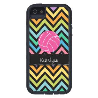 Multi Color Chevron Zigzag Volleyball Phone Case iPhone 5 Cover