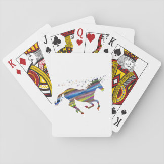 Multi-Color Colorful Unicorn Playing Cards