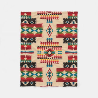 MULTI-COLOR Diamond Aztec Print Fleece Blanket