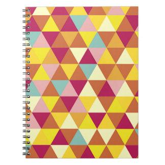multi color diamond pattern spiral note book