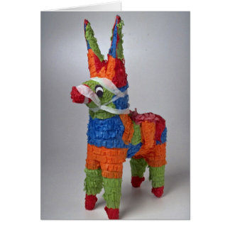 Multi Color Donkey pinata for parties Card