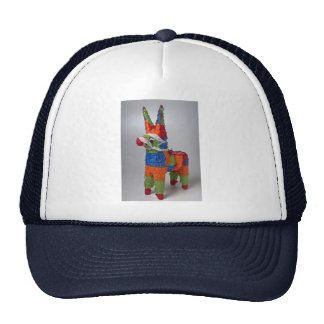 Multi Color Donkey pinata for parties Trucker Hats