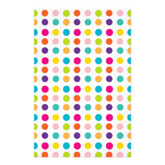 Multi Color Dots Stationery