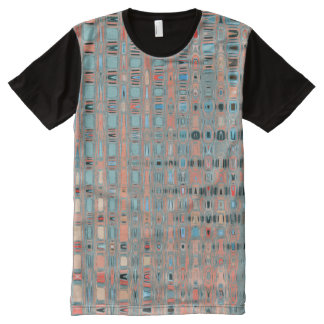 Multi-color Earth Toned Patterns All-Over Print T-Shirt