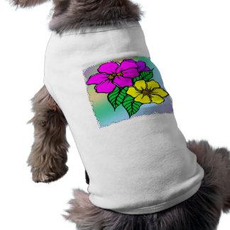 Multi Color Floral Sleeveless Dog Shirt