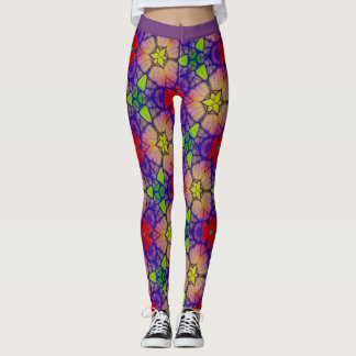 Multi-Color Floral Leggings