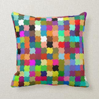 Multi Color Funky Stripes Paint Pattern Art Design Cushion