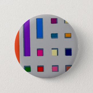 Multi color geometric 6 cm round badge
