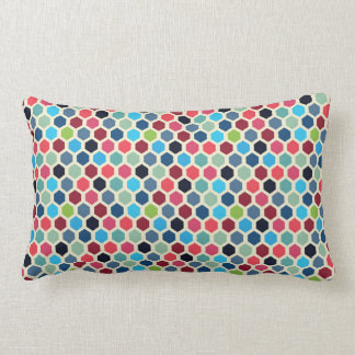 Multi-Color Geometric Pattern Lumbar Pillow