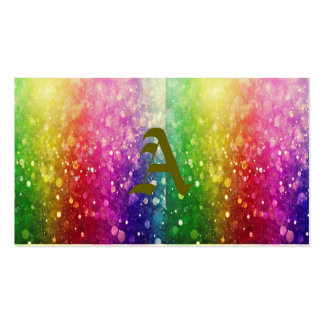 multi color,glitter,glam,chakra,fun,girly,trendy, pack of standard business cards