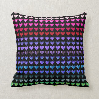 Multi Color Hearts Pillow