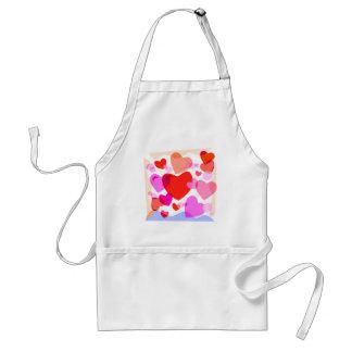 Multi Color Hearts Standard Apron
