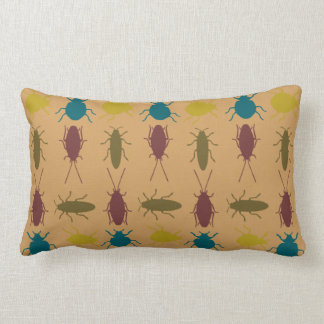 Multi color insect throw pillow