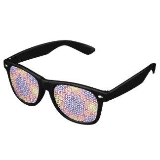 Multi-Color Kaleidoscope Retro Sunglasses